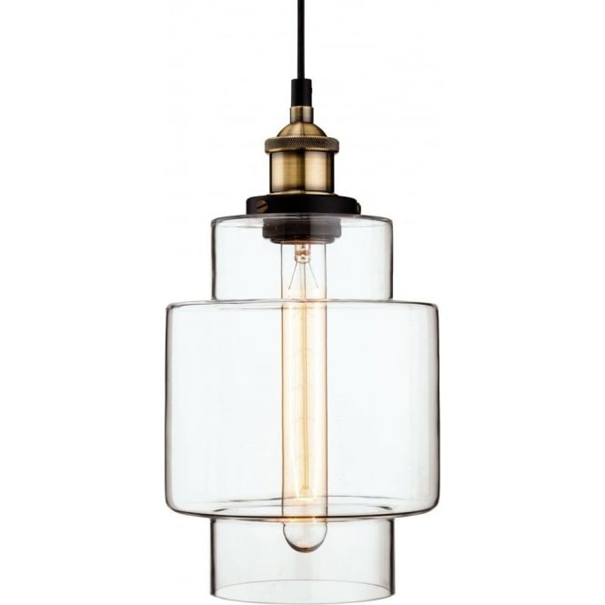 campana glass pendant light clear chic chandeliers products