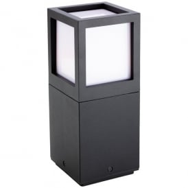 Evo Single White CREE LED Bollard Die Cast Aluminium in Graphite Finish (Outdoor)