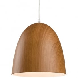 Forest Single Light Ceiling Pendant in Brown Wood Finish