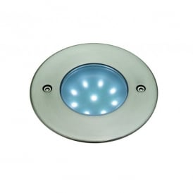 LED 9 White Walkover/Driveover Outdoor Light in Stainless Steel Finish