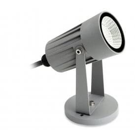 LED Single Light Wall & Spike Outdoor Spot Light In Silver Finish