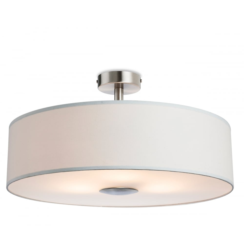 Firstlight Madison 3 Light Semi Flush Ceiling Fitting With