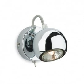 Magnetic Single Chrome Switched Wall Spot Fitting