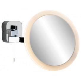 Magnifying 120 LED Mirror Switched Wall Light Fitting in Chrome Finish