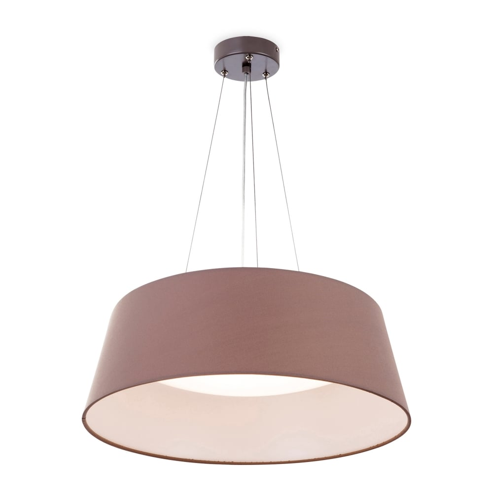 firstlight maxi 24w led ceiling pendant in taupe finish castlegate lights. Black Bedroom Furniture Sets. Home Design Ideas