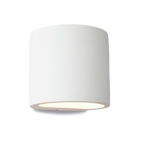 Firstlight Nina Plaster Single Light Wall Uplighter/Downlighter in White Plaster Finish ...