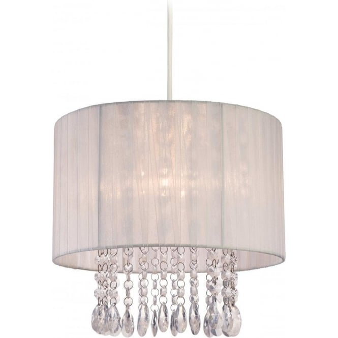 Firstlight organza easy fit ceiling light pendant shade with a white organza easy fit ceiling light pendant shade with a white shade aloadofball Image collections