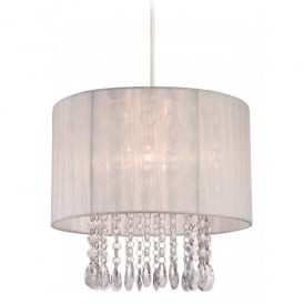 Organza Easy Fit Ceiling Light Pendant Shade with a White Shade