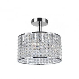 Pearl 4 Light Bathroom Polished Chrome and Crystal Ceiling Fitting