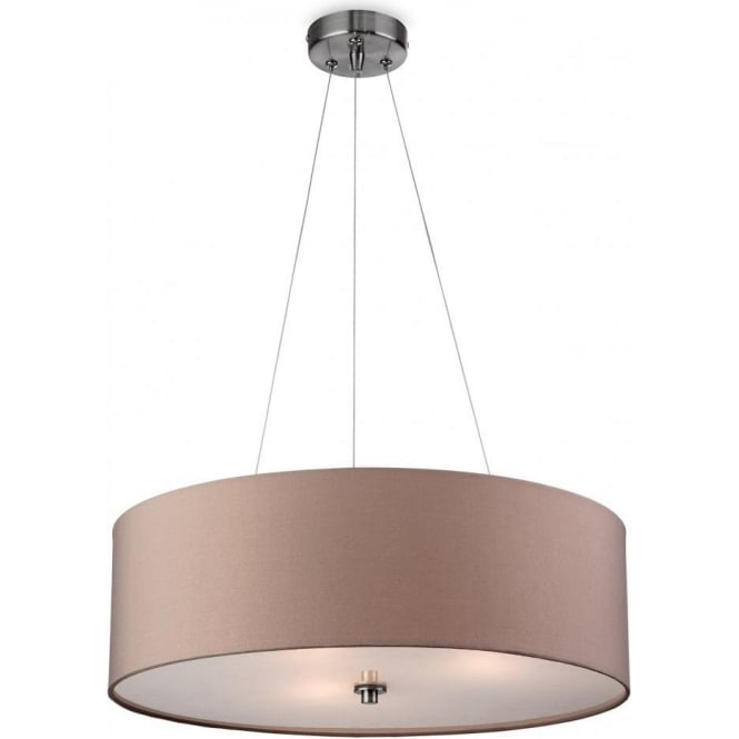 Firstlight phoenix 3 light ceiling pendant with a taupe coloured phoenix 3 light ceiling pendant with a taupe coloured shade aloadofball Images