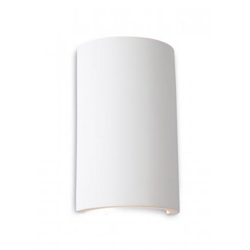 Firstlight Plaster Gallery Round Two Light Wall Uplighter/Downlighter in White Plaster Finish ...