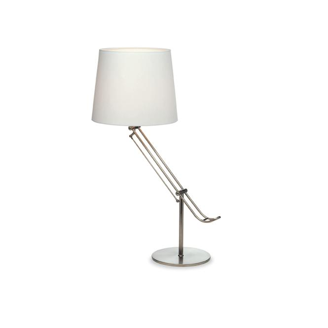 Firstlight polo brushed steel adjustable table lamp with white shade polo brushed steel adjustable table lamp with white shade aloadofball Image collections