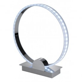 Ring LED Colour Blending Table Lamp in a Polished Chrome Finish