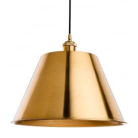 Savoy Single Light Ceiling Pendant in Antique Gold Finish