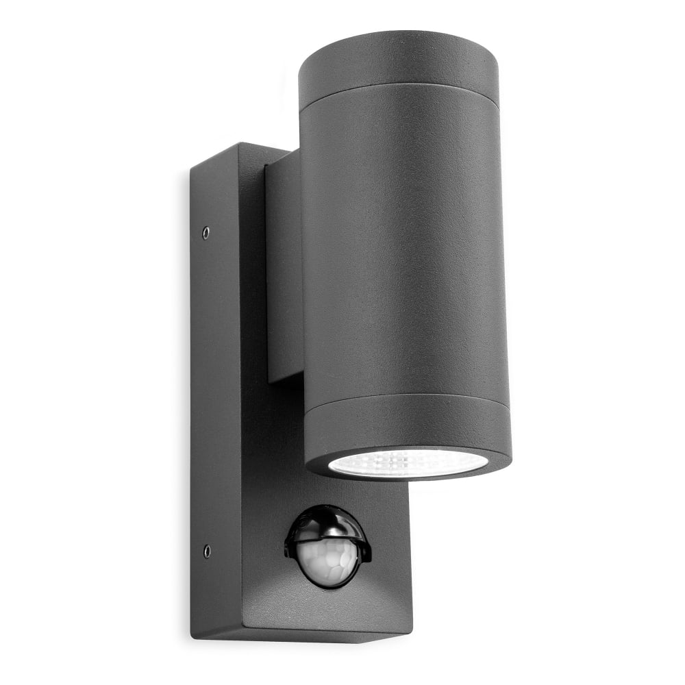 Firstlight shelby led 2 light outdoor wall fitting in graphite finish with pir sensor product code 5940gp