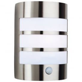 Stainless Steel Single Light Outdoor Wall Lamp with PIR Sensor