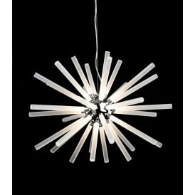 Starburst LED Ceiling Pendant in Polished Chrome Finish With Frosted Acrylic Shades