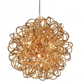 Stella 6 Light Ceiling Pendant in a Copper Finish