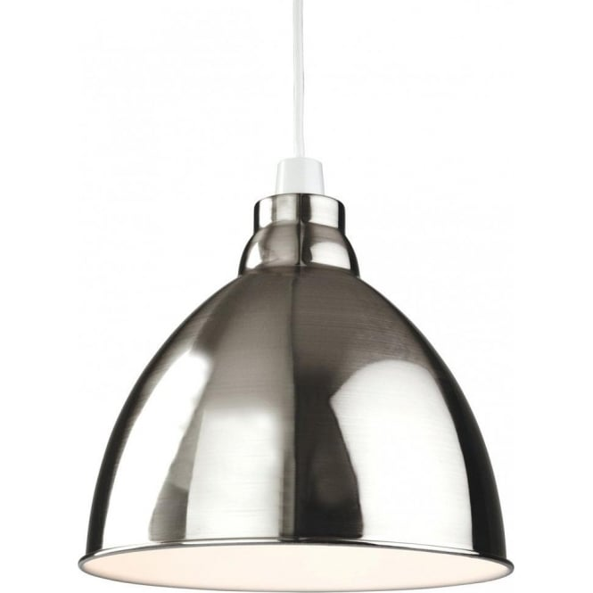 Delicieux Union Easy Fit Ceiling Light Pendant Shade In A Brushed Chrome Finish