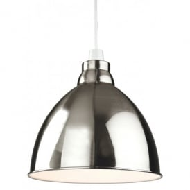 Union Easy Fit Ceiling Light Pendant Shade in a Brushed Chrome Finish