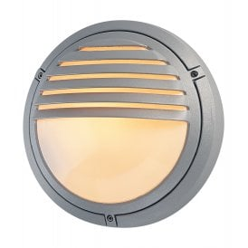 Verona Single Light Outdoor Wall Fitting In Silver Finish With Opal Diffuser