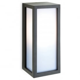 Warwick Single Light Graphite Grey Outdoor Wall Fitting with Low Energy Lamp