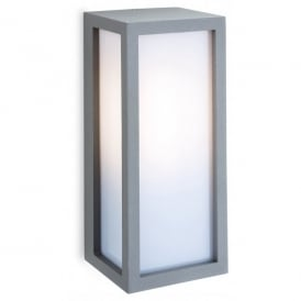Warwick Single Light Silver Coloured Outdoor Wall Fitting with Low Energy Lamp