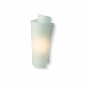 WL223SS Vetro Single Light Wall Fitting In Satin Steel Finish With Acid Glass Shade