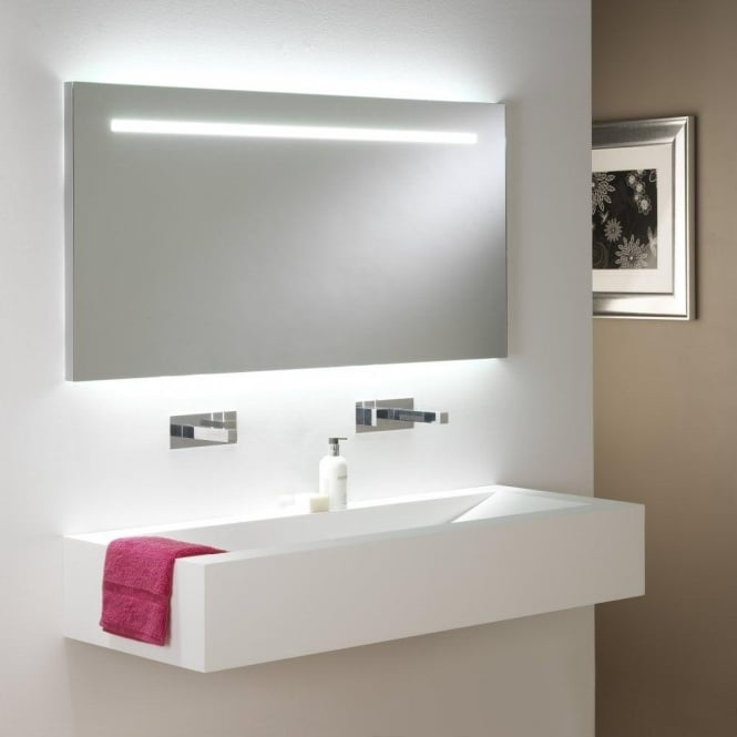 Astro Lighting Flair 1250 Illuminated 2 Light Bathroom Mirror With Pull Cord Switch