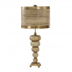 Flambeau Retro Single Light Table Lamp in Gold Finish Complete with Shade