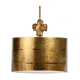 Fragment Single Light Large Ceiling Pendant in Gold Finish