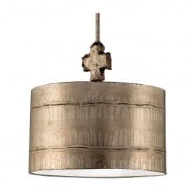 Fragment Single Light Large Ceiling Pendant in Silver Finish