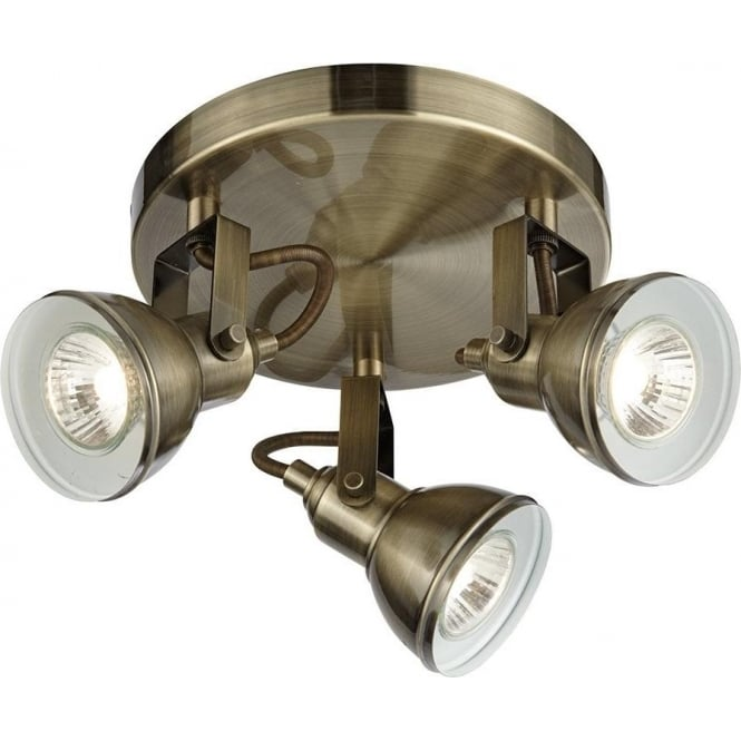 Searchlight lighting focus 3 light spotlight fixture in antique searchlight lighting focus 3 light spotlight fixture in antique brass lighting type from castlegate lights uk mozeypictures