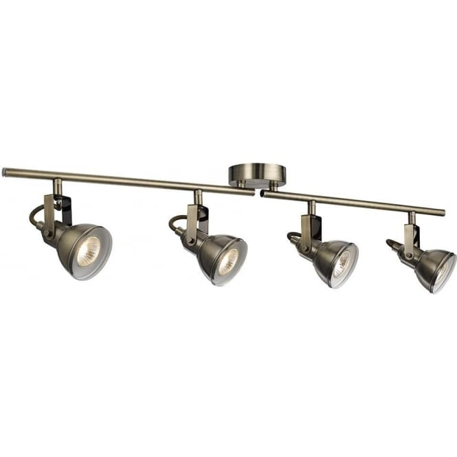 Searchlight lighting focus 4 light ceiling spotlight bar in searchlight lighting focus 4 light ceiling spotlight bar in antique brass lighting type from castlegate lights uk mozeypictures