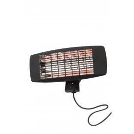 Blaze Infrared Wall Mounted Heater In Black Finish