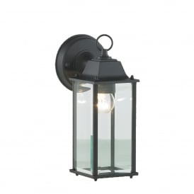 Ceres Single Light Outdoor Wall Lantern In Black Finish