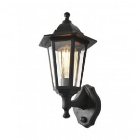 Coast Collection Bianca Wall Light in Black with PIR