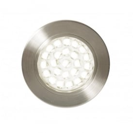 CUL-21624 Pozza Circular Recessed LED Cabinet Light in Satin Nickel