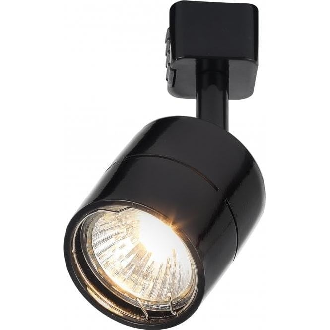 Culina lustro halogen track spotlight fitting in black finish