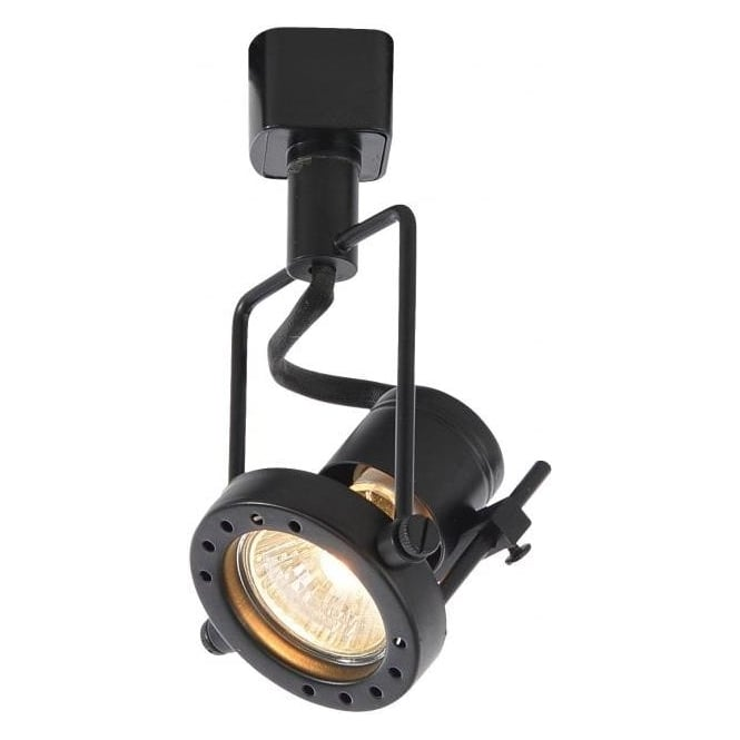 Culina ribalta halogen track spotlight fitting in black finish