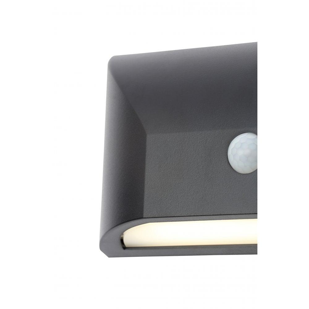 Forum CZ-31747-BLK Poole 5W LED Outdoor IP65 Garden Wall Light With PIR Sensor