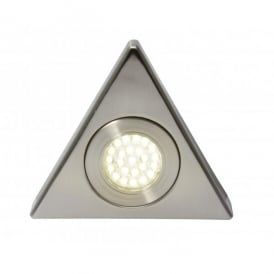 Fonte LED Under Cabinet Light in Satin Nickel Finish Triangle
