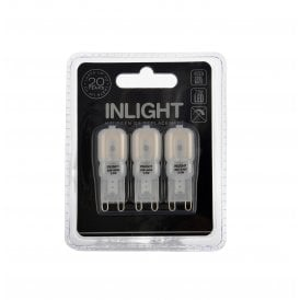 Inlight 2.5w Pack Of 3 Cool White Frosted LED G9