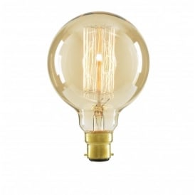 Inlight G95 Vintage Filament Globe Lamp 40w BC Tinted (Dimmable)
