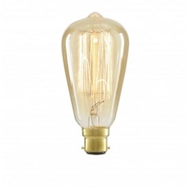 Inlight ST64 Vintage Filament Lamp 40w B22 Tinted (Dimmable)