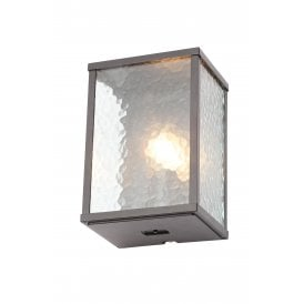 Keb Single Light Outdoor Wall Fitting in Black finish With Clear Glass Panels