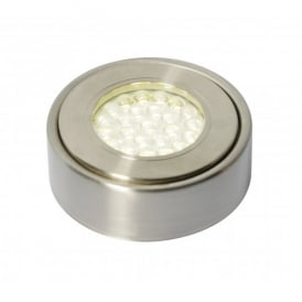 Laghetto Circular LED Under Cabinet Light in Satin Nickel Finish