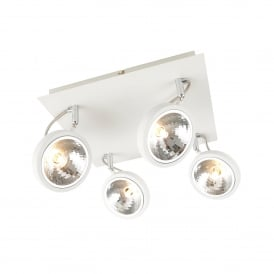 Rosa 4 Light Ceiling Spot Light Fitting In White Finish