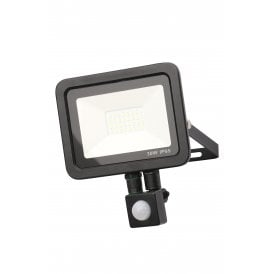 Rye 30w LED Outdoor Wall Mounted Floodlight In Black Finish With PIR Sensor