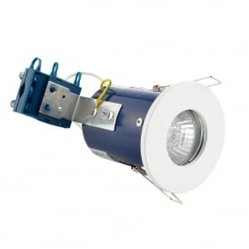 Single Light Recessed Bathroom Fire Rated Downlight In White Finish
